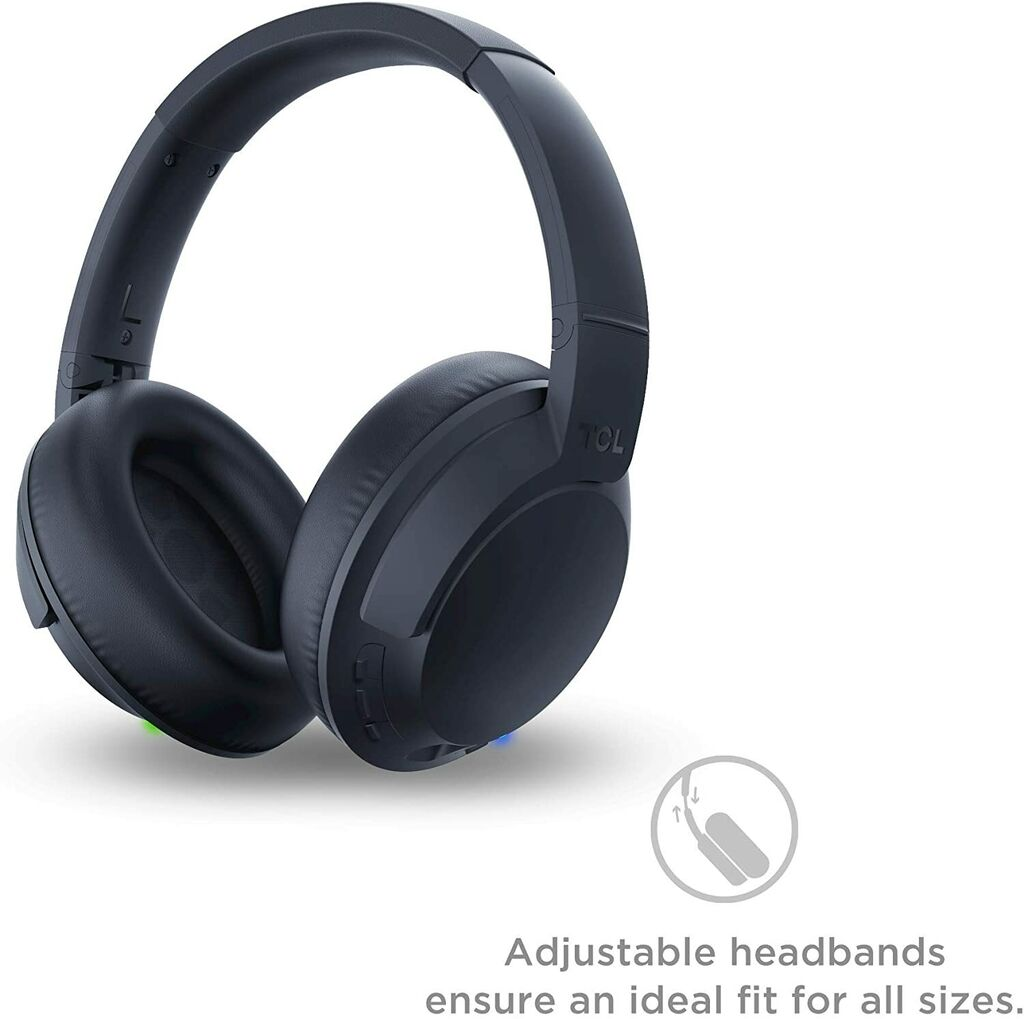 TCL Wireless Bluetooth Noise Cancelling On-Ear Headphones - Midnight Blue | Ebay