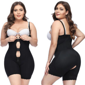976103312c Plus Size Women Full Body Shaper Zip Compression Slim Tummy Waist ...