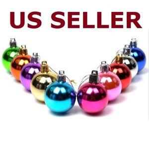 24pcs-Glitter-Christmas-Balls-Baubles-Tree-Hanging-Ornament-Wedding-Party-Decor