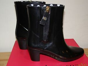 214200f0996 NEW Kate Spade New York Penny Boots Black Sz 5 Womens Rubber Ankle ...
