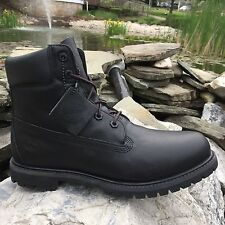 WOMEN'S TIMBERLAND CLASSIC 6-INCH PREMIUM BOOT BLACK SMOOTH 8161B SIZE 10