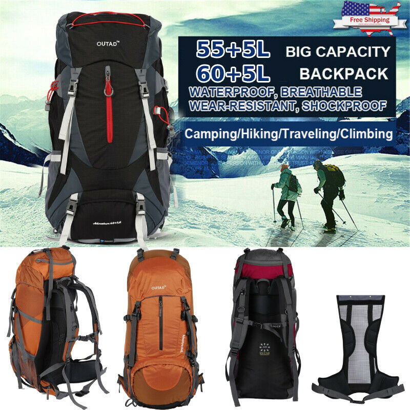 Details about  /Waterproof Climbing Backpack 40L Outdoor Sports Bag Travel Camping Hiking