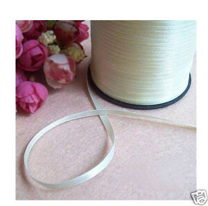 "White Red Off-white 1/8"" 1/16"" Polyester Satin Ribbon 500 Yards Wholesaler Spool Emballage De Marque NomméE"