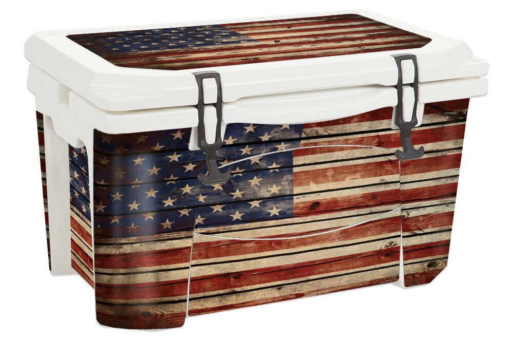 USATuff Decal Wrap Full Kit fits Grizzly 75qt Cooler Old Glory