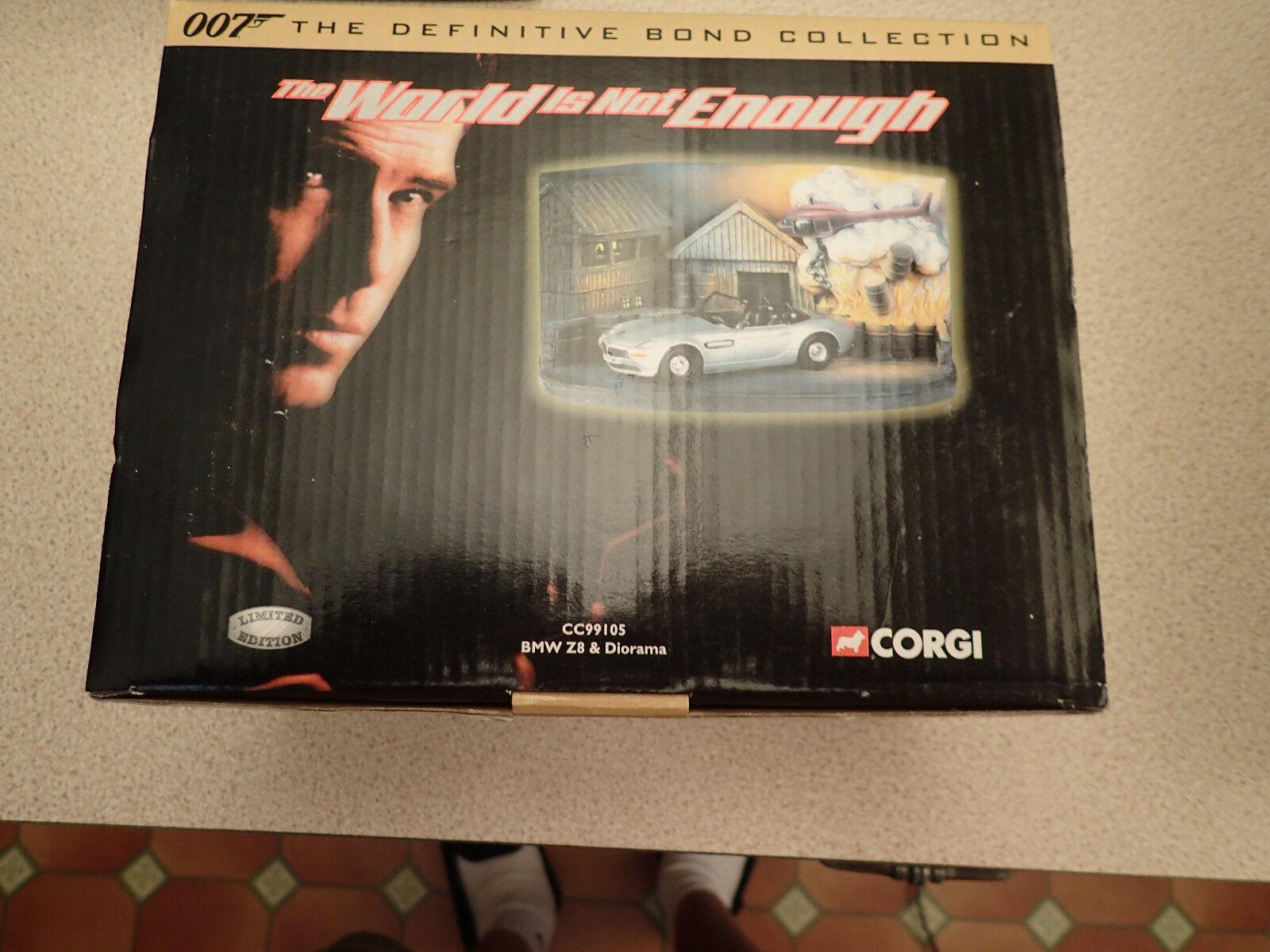 Ltd Edn Corgi James Bond CC99105 BMW Z8 & Diorama  Untouched