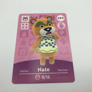 Nate Amiibo Card 059 Animal Crossing New Horizon ...