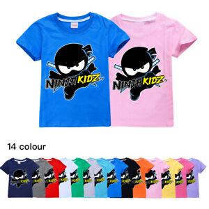 2021 New Ninja Kidz Tv Kids 100% Cotton T-Shirt Gaming Team Short Sleeve Top Tee