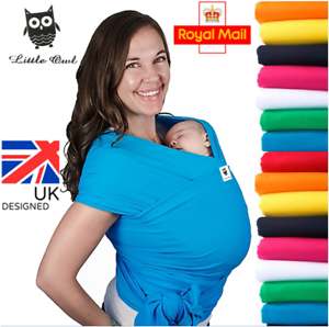 BABY-SLING-STRETCHY-WRAP-CARRIER-Extra-light-and-silky-soft-MANY-COLOURS