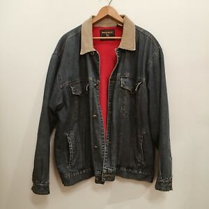 e360e1a9840 Image is loading Vintage-Mens-Wrangler-Denim-Jacket-Fleece-Lined-L