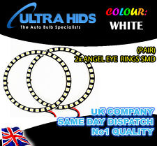 2X 5050 120MM SMD ANGEL EYE HALO RINGS LED DRL ALL CARS ROUND HEADLIGHT WHITE