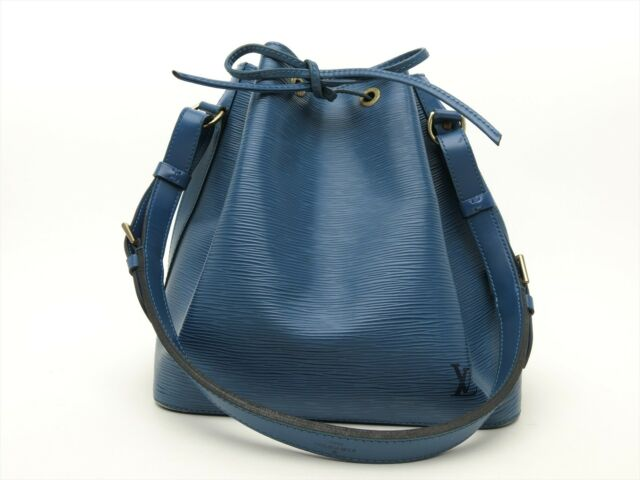 ef72800de12c Louis Vuitton Authentic Epi Leather Blue Petit Noe Shoulder Tote Bag Auth LV