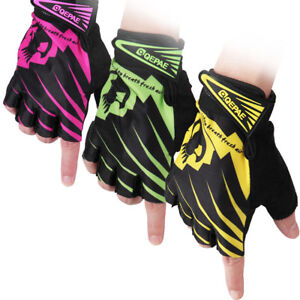 2PCS-Cycling-Gloves-Half-Finger-Bicycle-Fingerless-Sports-Gel-Padded-M-XL-CHZ