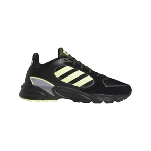 Adidas-Men-039-s-90-039-s-Valasion-Core-Black-Hi-Res-Yellow-Grey-Three-Shoes-EG5639-NEW