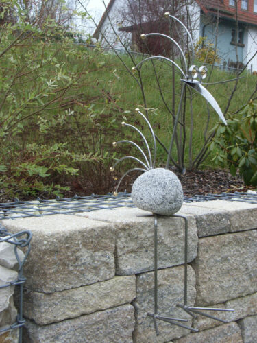 Edler Granit vogel Kantenhocker,85 cm hoch Edelstahl
