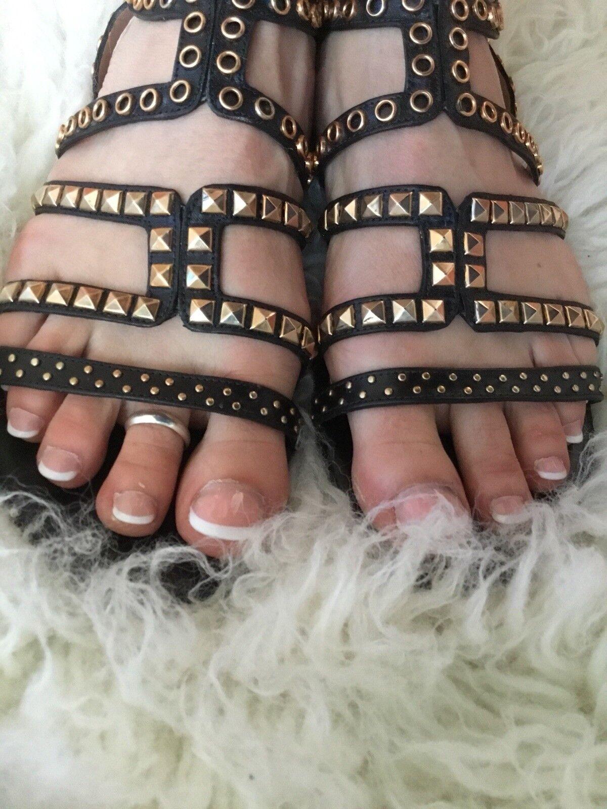 Pura Lopez * * Sandalen * Nieten * Lopez 1 x getragen * Wie Neu * Jades * NP 98959a
