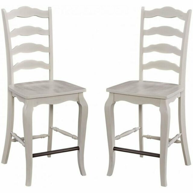 Home Styles Seaside Lodge 3 Piece Kitchen Island Set in Off White