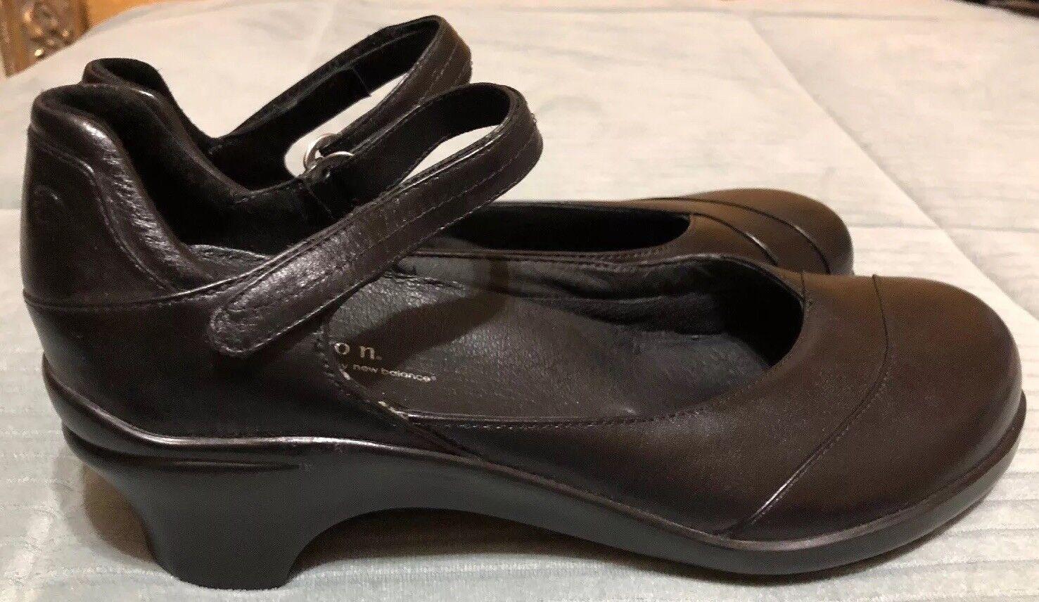 Zapatos De Vestir Aravon por New Balance Balance Balance Maya Mary Jane Cuero Negro Elegante Talla 11AA  primera reputación de los clientes primero