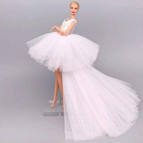 """2pcs//lot White Fashion Clothes For 11.5/"""" Doll Wedding Dress Party Gown 1//6 Toys"""
