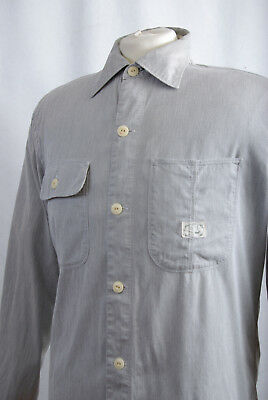 Affidabile L273/75 Vintage Paul Smith Jeans Grigio Camicia Casual, Taglia M-mostra Il Titolo Originale