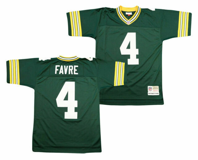 Brett Favre #4 Green Bay Packers Mitchell & Ness Throwback NFL Mens Large Jersey