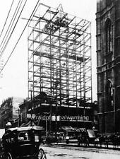 """Photo 1910s Montreal, Canada """"Notre Dame - Construction of Duluth Building"""""""