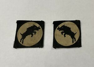 Rare-Pair-Of-Original-WW2-XXX-Corps-Formation-Badges-Patches-Genuine