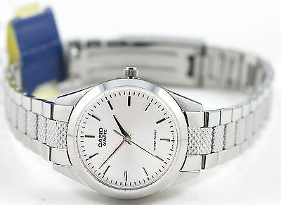 Casio LTP-1274D-7A Ladies Silver Analog Watch  Stainless Steel Band Dress New