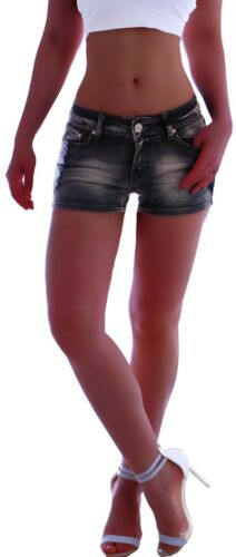 Damen Jeans Kurze Hose kurz hosen hot pants Hüftjeans Shorts Hose Denim C069