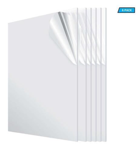 "Pack Of 6 Pieces Clear Acrylic Plexiglass 1//8/"" x 24/"" x 36"" Plastic Sheet"