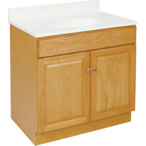 manor vanity cabinet 30w x 31 1 2h x 18 d honey oak finish new
