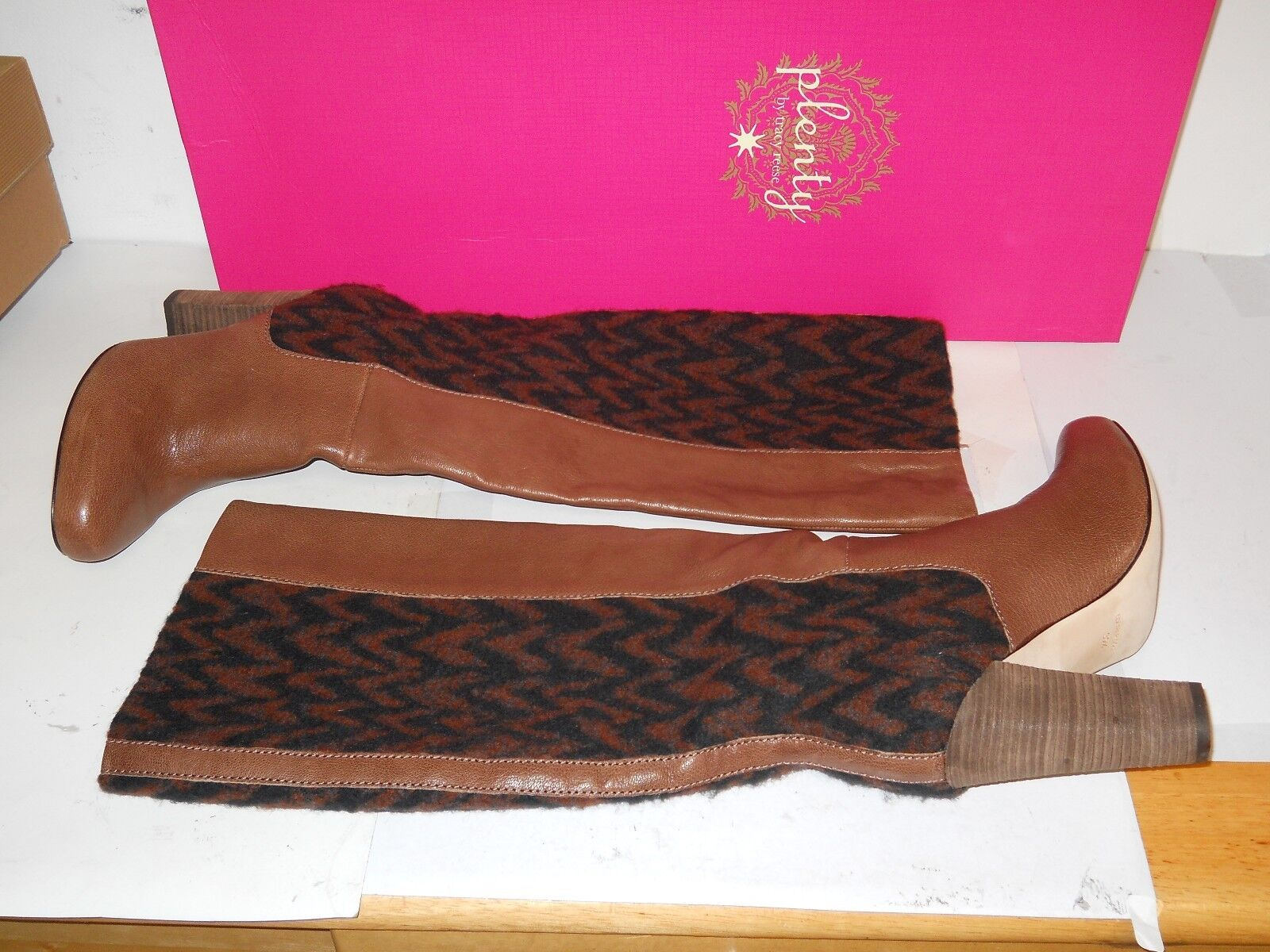 Plenty By Tracy Reese New Donna Royale Brown Stivali Eur 38   7.5 8  M Shoes