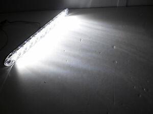 15 slimline white led back up tail reverse light tecniq trailer rv rh ebay com