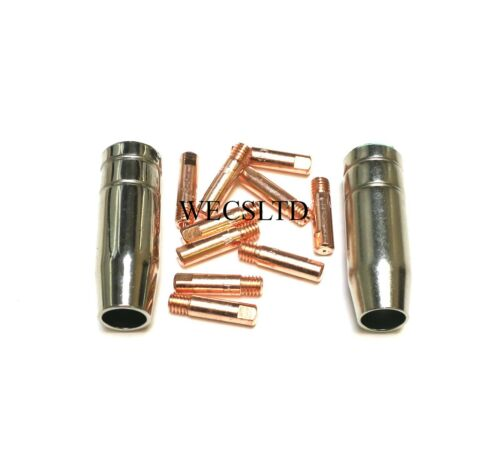 MIG contatto suggerimenti 0,8 mm x 10 /& gas dell/' involucro x 2 Pack per WOLF 140 MIG Welder