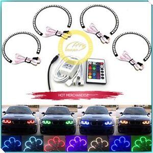 4X-RGB-131mm-5050-LED-Angel-Eyes-Halo-Ring-Light-Fit-for-BMW-E36-E38-E39-E46-M3
