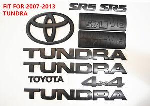 FOR 2007-2013 Toyota Tundra Matte Black Out Emblem Badges tailgate 4 Piece Kit