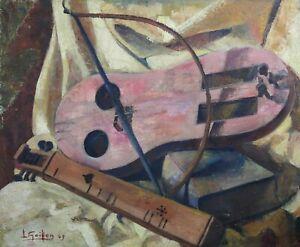 Appris Louis Goiffon (1915-?) Instruments De Musique Xl Format Luth Dijon André Patte