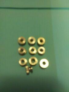 Thumb nut brass 8//32 spark plug Maytag engine hit /& miss Ford model T 10pc