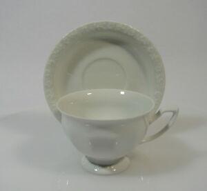 Rosenthal-classic-Maria-weiss-Kaffeetasse-9-5-cm-mit-Untertasse-90er-Jahre-Serie