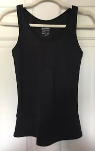 8c90e3cb3c889 New Balance Womens M Tank Top Black Athletic Workout Wear Fitted