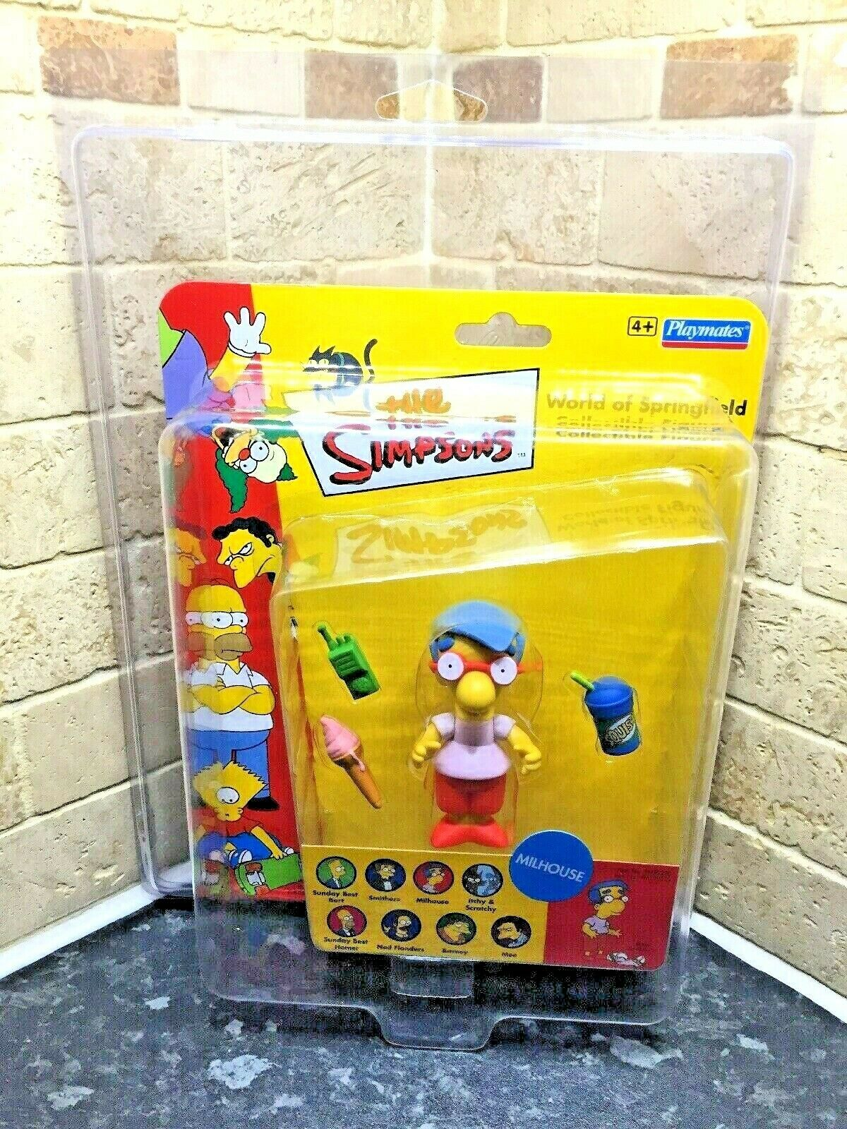 Uk Exclusive Rare World Of The Simpsons Milhouse WOS Figure Zoloworld Case