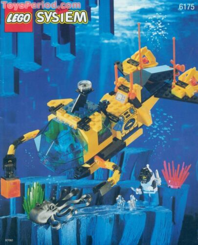 Lego set 6175 Crystal Explorer Sub Windscreen ⚡Ref 4315 ⚡Hinge Plate 1x4 Yellow