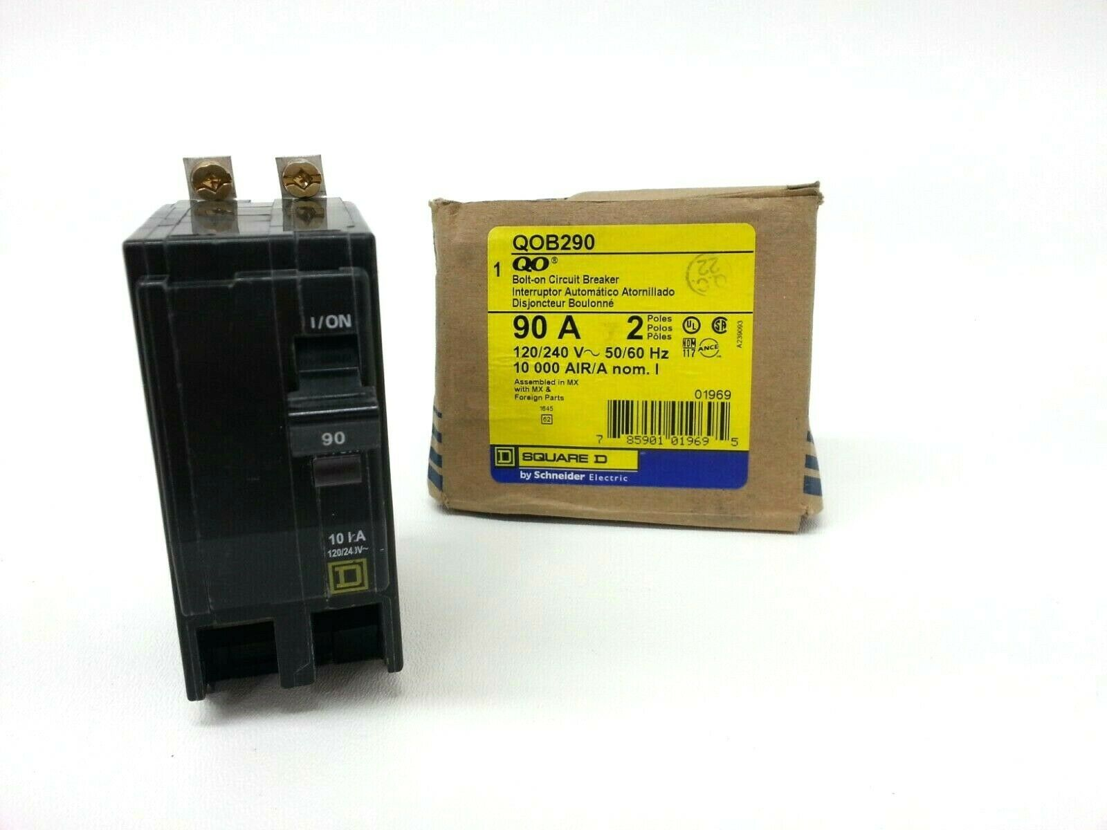***NEW*** SQUARE D QOB290  90 AMP 2-POLE BOLT IN BREAKER with BUSS SCREWS