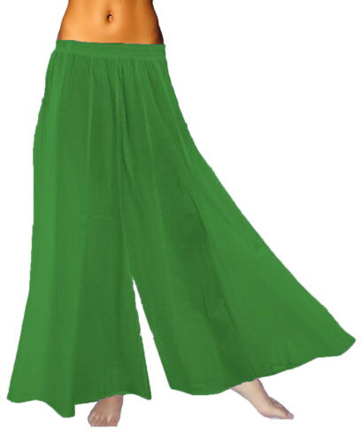 Women Soft Flare Wide Leg Solid High Waist Fold over Yoga Palazzo Pant