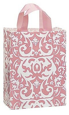 """/""""BLACK DAMASK/"""" Frosted Gift bags 100 CT 8X5X10/"""""""