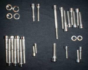 YAMAHA-DT1-DT-1-STAINLESS-BOLT-SCREW-ENGINE-kit-SET-DT250-1968-71-DT1E-POLISHED