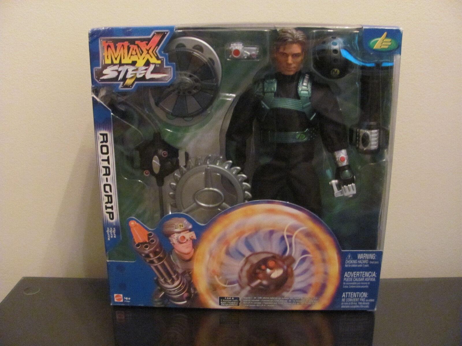 RARE HTF nuovo IN scatola MAX STEEL rossoA GRIP azione  cifra 12  Mattel 2002  vieni a scegliere il tuo stile sportivo