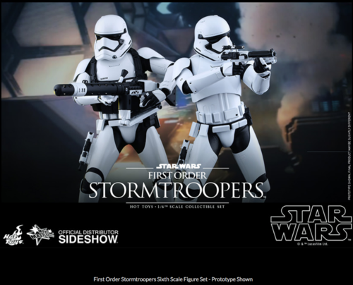 Star Wars Hot Toys First Order Stormtrooper & Heavy Gunner 1 6 Scale HOTMMS319