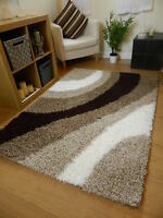 NEW SMALL MEDIUM LARGE THICK HIGH PILE LUXURIOUS NON SHEDDING SOFT SHAGGY RUGS