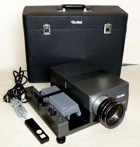 Diaprojektor Rollei Rolleivision 66 AV Vario-Heidosmat 3,5/110-160 Timer+Koffer
