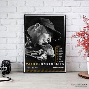 Vasco Non Stop Live, Fine Art Poster HR Manifesto Tour Giugno 2018 Vasco Rossi
